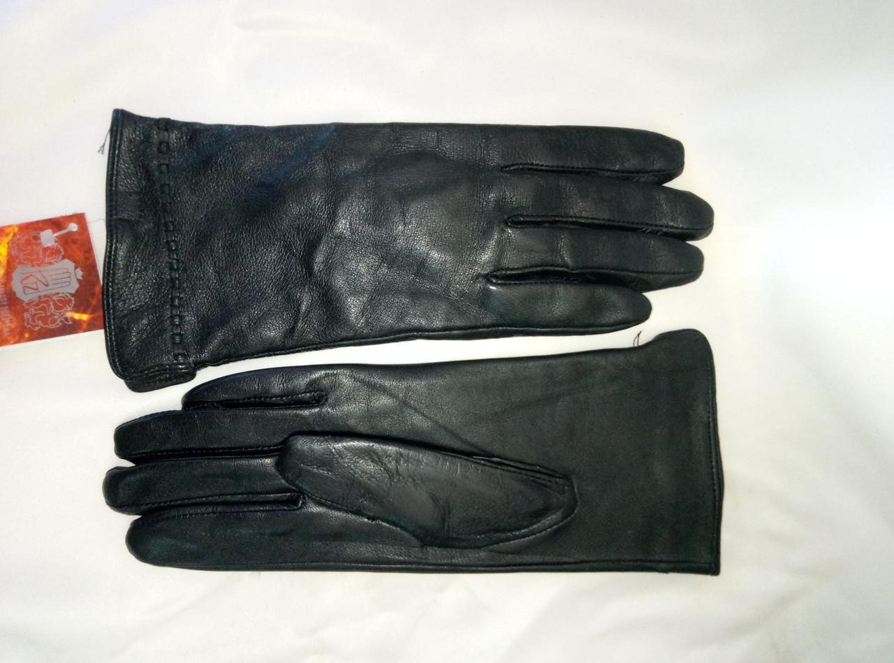 Перчатки женские из натуральной кожи на флисе