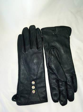 Перчатки женские из натуральной кожи на флисе, фото 2