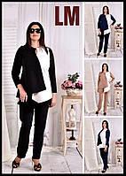От42 по 74р Женская красивая блузка 70565 синяя черная бежевая батал большого размера деловая осенняя весенняя