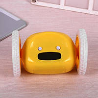 Убегающий будильник на колесиках Yellow