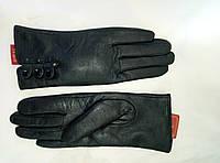 Перчатки женские из натуральной кожи на плюше