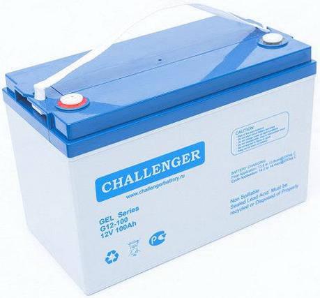 Гелевая аккумуляторная батарея Challenger G12-100 (12 Вольт, 100 Ач)., фото 2