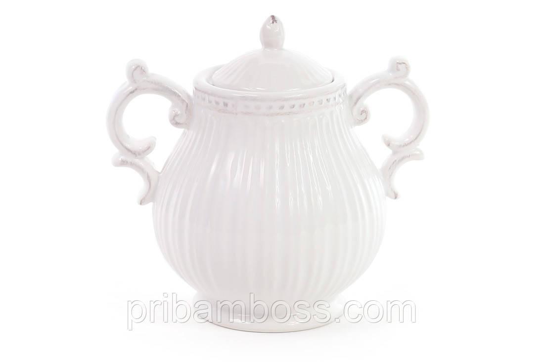 Сахарница керамическая 300мл, цвет - белый