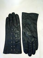 Рукавички жіночі з натуральної шкіри на флісі