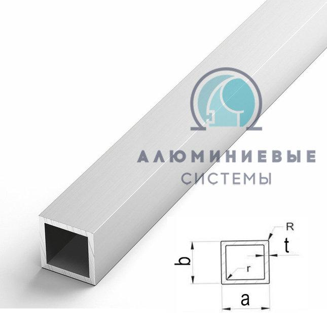 Труба алюмінієва квадратна ПАК-0031 10х10х0,9 / AS