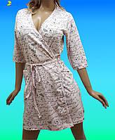 Купить халат женский хлопковый, размер от 44 до 50, Украина