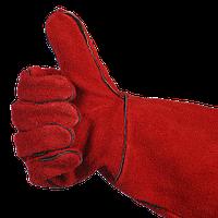 Краги красные сварочные
