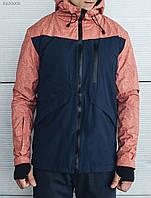 Мужская,демисезонная,молодежная куртка осенняя,  Staff first red синяя, удлиненная с капюшоном, осень-весна