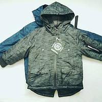 Куртка для мальчика 4-12 лет с капюшоном демисезонная