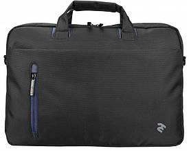 """Классическая сумка для ноутбука 16"""" 2E черная2E-CBN415BK"""