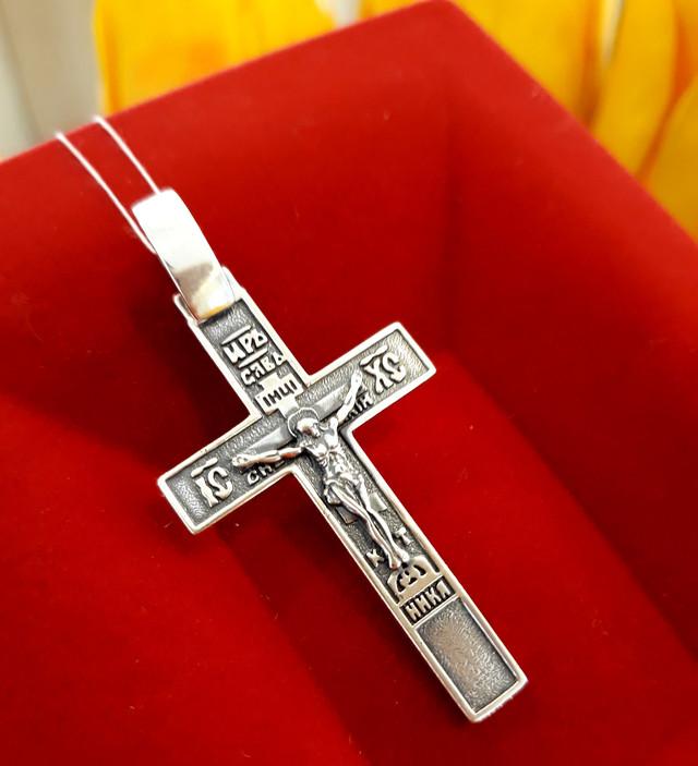 Крест мужской серебро фото 2