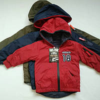 Куртка ветровка двухсторонняя для мальчика 1-5 лет