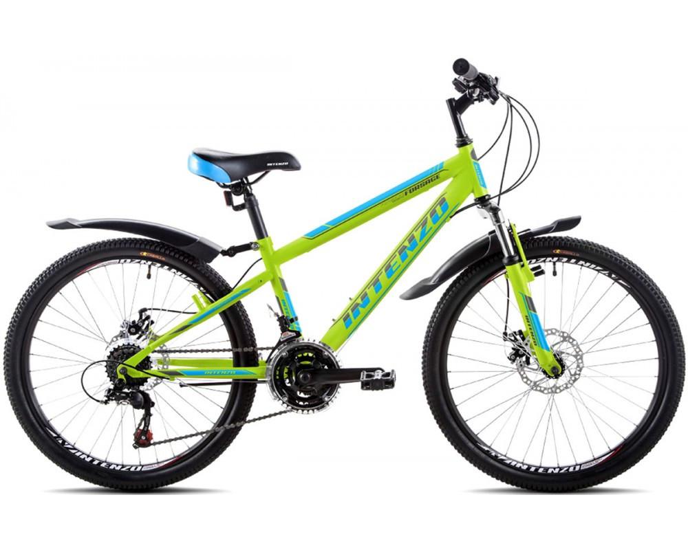 """Подростковый велосипед INTENZO FORSAGE 24"""",13""""   Салатовый"""