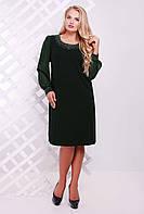 Темно-зеленое женское платье ВИТА ТМ Таtiana 54-60 размер