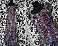 """Женские сарафаны в пол ткань """"легкий штапель"""" с поясочком 54, 56 размер батал"""