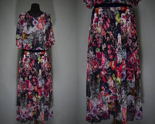 """Женские сарафаны в пол ткань """"легкий штапель"""" с поясочком 46 размер норма, фото 2"""