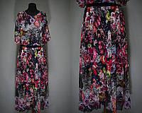 """Женские сарафаны в пол ткань """"легкий штапель"""" с поясочком 46, 48 размер норма"""