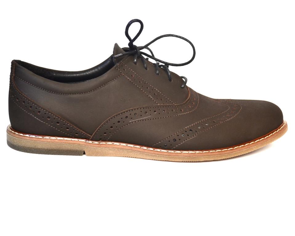 Большой размер. Туфли мужские кожаные коричневые броги Rosso Avangard BS Felicete Shock SE