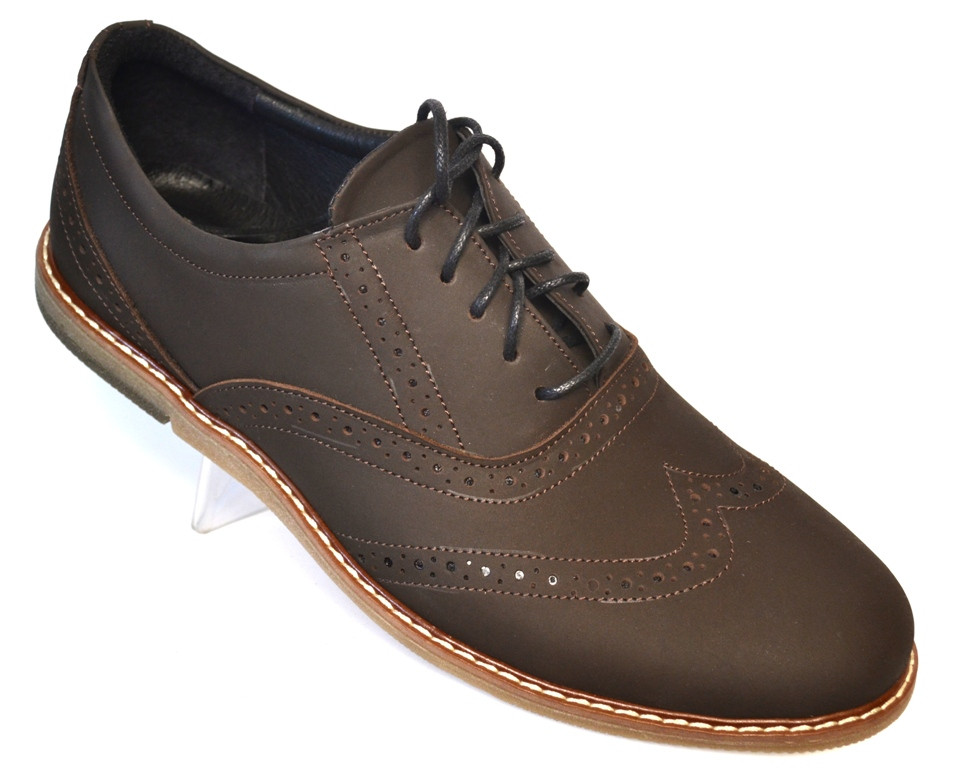 Туфли мужские комфорт на каждый день кожаные коричневые обувь больших размеров Rosso Avangard BS Felicete BrCr