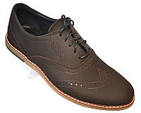 Туфли мужские комфорт на каждый день кожаные коричневые обувь больших размеров Rosso Avangard BS Felicete BrCr, фото 1