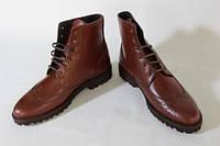 Итальянские  мужские ботинки броги 41 размер 27,5 см  код 0603