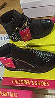 Детские чёрные демисезонные ботинки для девочек Размеры 32,32,33