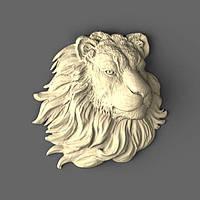 Резной лев из дерева 200х200