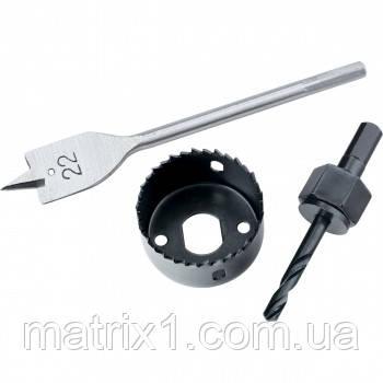Набор для установки врезных замков, 22 мм/54 мм (перовое сверло/кольцевая пила)// MTX