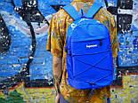 Рюкзак Supreme синий. Живое фото. Топ качество! (Реплика ААА+), фото 4