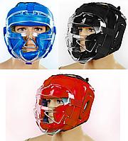 Шлем для единоборств с прозрачной маской PU ZELART (р-р M-XL)