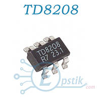 TD8208, DC-DC преобразователь, 2A, SOT23-6