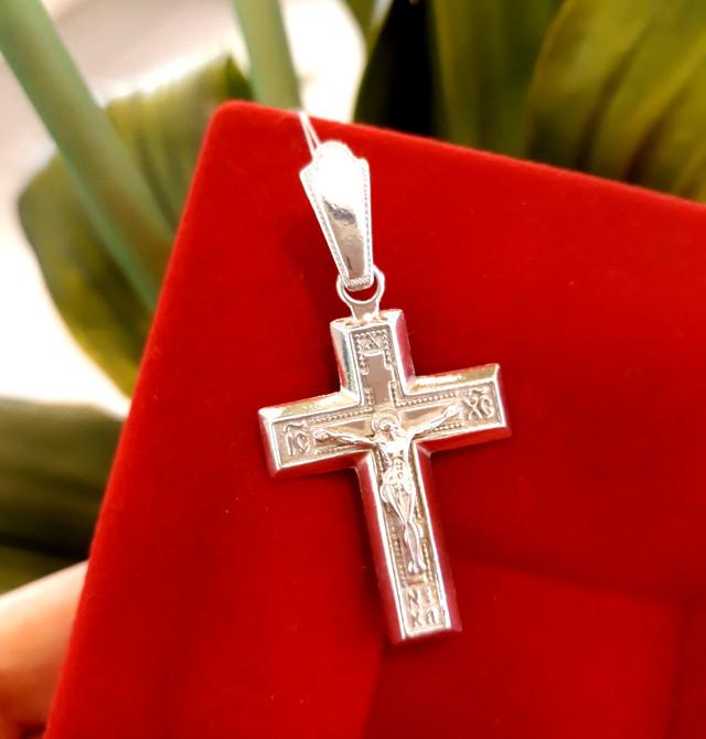 Мужской серебряный крестик фото 3