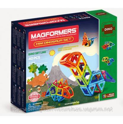 Конструктор магнитный ТМ Magformers Маленькие динозавры 40 элементов