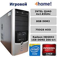 Игровой ПК - 4х2.83GHz /8GB DDR2 /Radeon HD6850 1GB DDR5 256-bit /750GB HDD