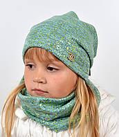 Трикотажний комплект(шапка+хомут) Глитер