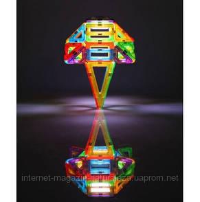 Конструктор магнитный Magformers Набор с ЛЕД подсветкой 55 элементов, фото 2