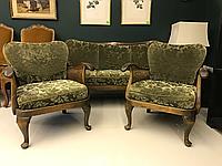 Диван и 2 кресла в стили Чипендейл, фото 1