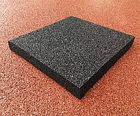 Резиновые покрытия для спортивных площадок 500х500х45