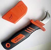 Нож для снятия изоляции с кабеля FORSE (нож с пяткой)