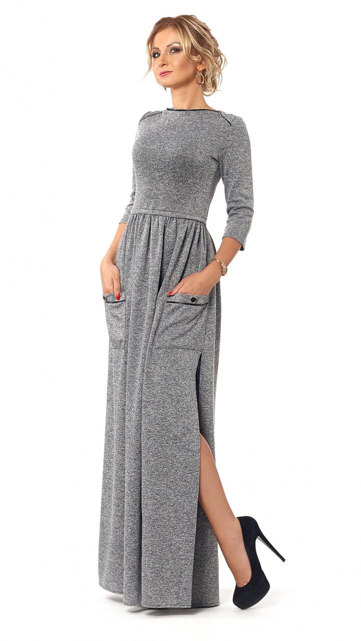 Платье длинный рукав осень