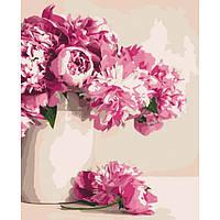 Картина по номерам Бархатные розовые пионы 40 х 50 см Идейка арт. КН2931