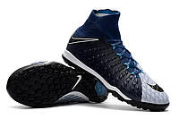 Футбольные сороконожки Nike HypervenomX Proximo II DF TF Brave Blue/Black/Photo Blue
