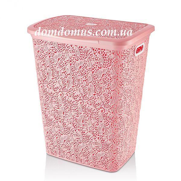 "Корзина ажурная для белья ""Флория"" 55 л Hobby Life, розовый цвет"