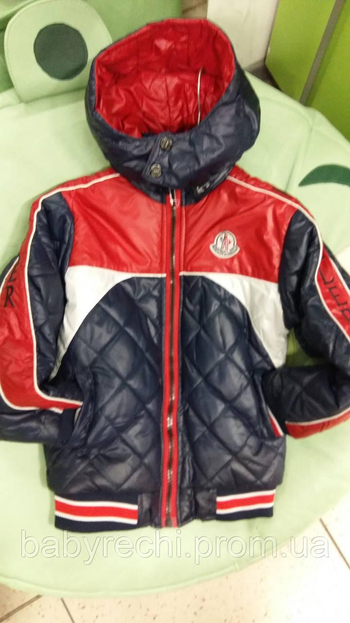 Демисезонная детская курточка для мальчика Moncler 5-12 лет - Интернет-магазин детской одежды и обуви Babyrechi в Киеве