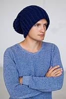Мужская вязаная объёмная шапка-колпак Эдмон