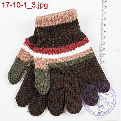 Оптом вязаные перчатки для мальчиков на 6, 7, 8, 9 лет - №17-10-1, фото 3