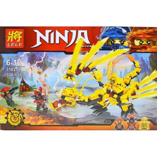 Конструктор LELE 31021 Ninja Золотой дракон