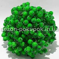 Калина в сахаре D-12мм, 400 шт цвет - ЯРКО-САЛАТОВЫЙ(200 двухсторонних проволочек)