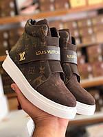 Высокие кеды Louis Vuitton коричневые