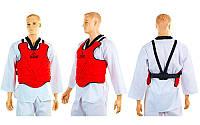 Защита корпуса (жилет) для единоборств Zelart  (EVA, нейлон, р-р XS-XL, красный), фото 1